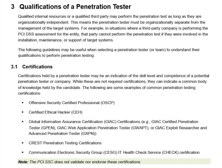 Qualifications of a security tester